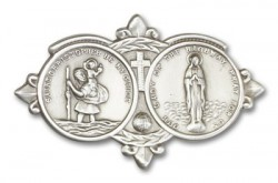 St. Christopher  & Our Lady of the Highway Visor Clip [AUBVC009]