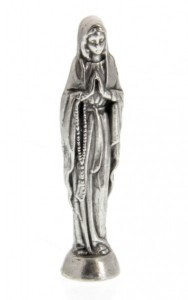 Our Lady of the Rosary Pocket Statue with Holy Card [HPC002]