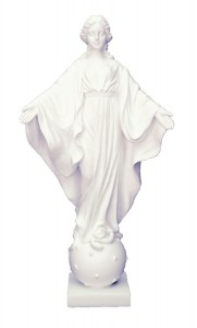 Our Lady of the Smiles White Statue - 9 Inches [GSCH1104]