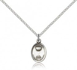 Oval Chalice First Communion Pendant [BC0032]