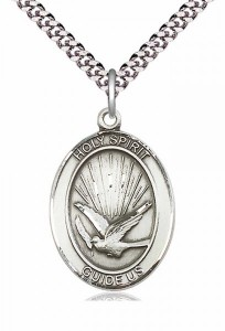 Oval Holy Spirit Guide Us Pendant [EN6104]