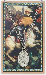 Oval Saint George Medal with Prayer Card [PC0011]