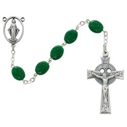 Oval Shamrock Rosary Sterling Silver [RB1803]