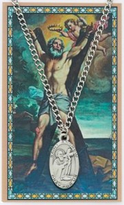 Oval St. Andrew Medal with Prayer Card [PC0010]