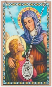 Oval St. Anne Medal with Prayer Card  [PC0086]