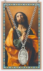 Oval St. James the Greater Medal with Prayer Card [PC0012]