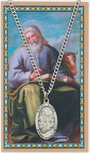 Oval St. Luke Medal with Prayer Card [PC0103]