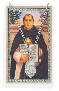 Oval St. Thomas Aquinas Medal with Prayer Card [PC0018]