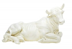 "White Ox Statue 13""H for 27"" Scale Nativity Set [RM0024]"