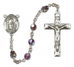 Paul the Hermit Sterling Silver Heirloom Rosary Squared Crucifix [RBEN0049]