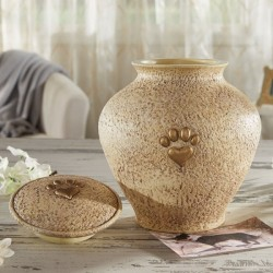 "Paw Print Pet Urn Memorial 9"" High [CBST113]"