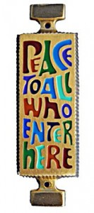 Peace to All Who Enter Here Wall Plaque - 4.25 inches [TCG0073]