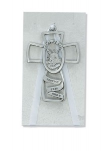 Pewter Guardian Angel Crib Cross [RBS2007]