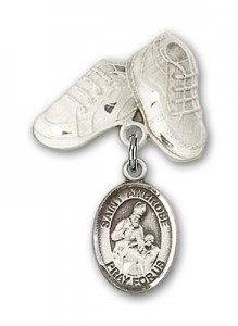 Pin Badge with St. Ambrose Charm and Baby Boots Pin [BLBP1210]