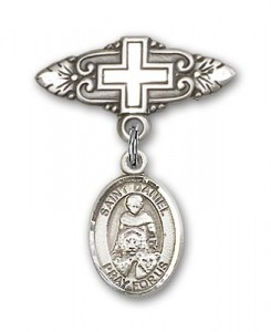 Pin Badge with St. Daniel Charm and Badge Pin with Cross [BLBP0428]