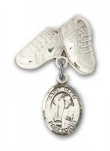 Pin Badge with St. Elmo Charm and Baby Boots Pin [BLBP0482]