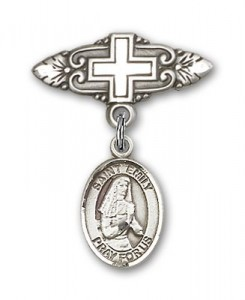 Pin Badge with St. Emily de Vialar Charm and Badge Pin with Cross [BLBP0589]