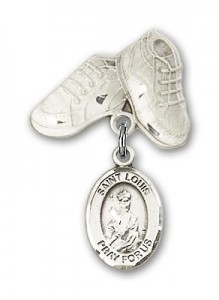 Pin Badge with St. Louis Charm and Baby Boots Pin [BLBP0832]