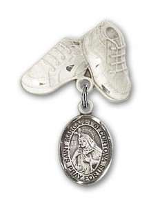 Pin Badge with St. Margaret of Cortona Charm and Baby Boots Pin [BLBP1978]