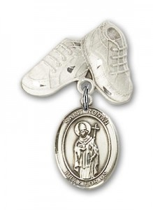 Pin Badge with St. Ronan Charm and Baby Boots Pin [BLBP2076]