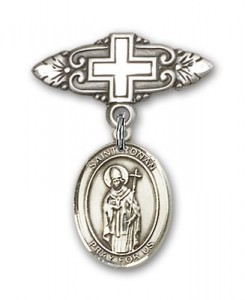 Pin Badge with St. Ronan Charm and Badge Pin with Cross [BLBP2071]
