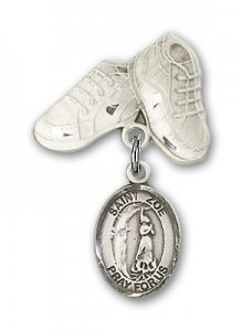 Pin Badge with St. Zoe of Rome Charm and Baby Boots Pin [BLBP2069]