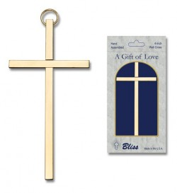 "Plain Wall Cross 4"", two color combinations [CRB0006]"
