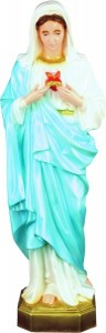 Plastic Immaculate Heart of Mary Statue - 24 inch [SAP2465]