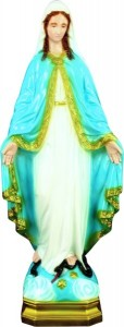 Plastic Our Lady of Grace Statue - 24 inch [SAP2405]