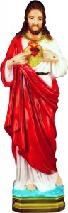 Plastic Sacred Heart Statue - 24 inch [SAP2480]