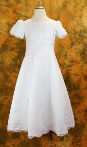 Plus Size Satin Embroidered First Communion Dress [LCDPL014]