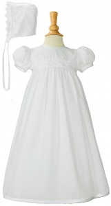 Girls Baptism Gown with Lace Appliques [LTM059]