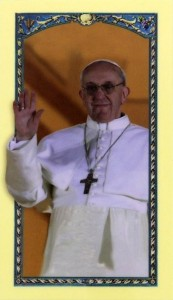 Pope Francis Laminated Prayer Cards [HRE24574]
