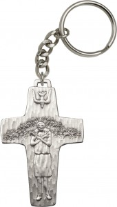 Pope Francis Papal Crucifix Keychain [AUBKC095]