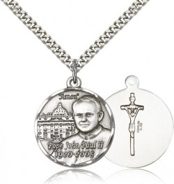 Men's Pope John Paul II with Vatican Medal [BM0571]