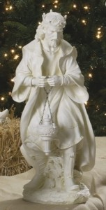 "White Resin Praising Wise King 26.5""H for 27"" Scale Nativity Set [RM0019]"