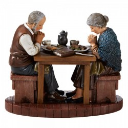 Prayer Before Meals Thanksgiving Statue 5 Inches High [CBST008]
