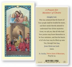 Prayer For Church Choir Laminated Prayer Cards 25 Pack [HPR857]