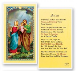 Prayer For Father Laminated Prayer Cards 25 Pack [HPR747]