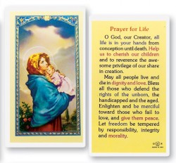 Prayer For Life Madonna of Street Laminated Prayer Cards 25 Pack [HPR707]
