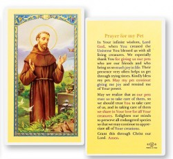 Prayer For My Pet, St. Francis Laminated Prayer Cards 25 Pack [HPR314]