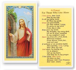 Prayer For Those Who Live Alone Laminated Prayer Cards 25 Pack [HPR712]
