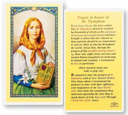 Prayer In Honor of St. Dymphna Laminated Prayer Cards 25 Pack [HPR434]