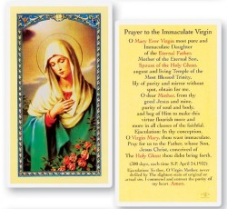 Prayer To Immaculate Virgin Laminated Prayer Cards 25 Pack [HPR834]