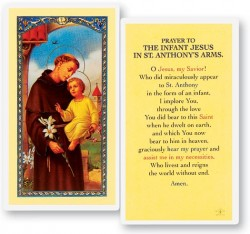 Prayer To Infant Jesus Laminated Prayer Cards 25 Pack [HPR305]