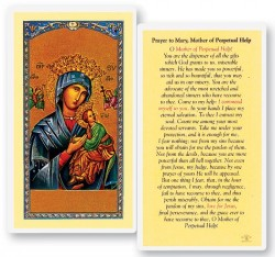 Prayer To Mother of Perpetual Help Laminated Prayer Cards 25 Pack [HPR287]