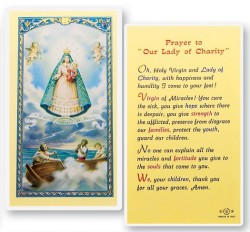 Prayer To Our Lady of Charity Laminated Prayer Cards 25 Pack [HPR279]