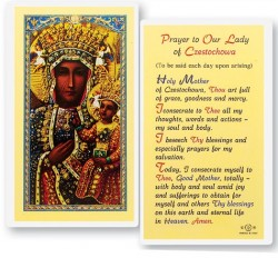 Prayer To Our Lady of Czestochowa Laminated Prayer Cards 25 Pack [HPR223]