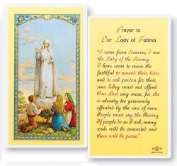 Prayer To Our Lady of Fatima Laminated Prayer Cards 25 Pack [HPR257]