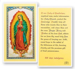 Prayer To Our Lady of Guadalupe Laminated Prayer Cards 25 Pack [HPR216]